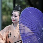 Geisha dancer in the Street Festival