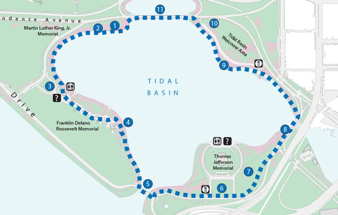 Tidal Basin Loop Trail map image