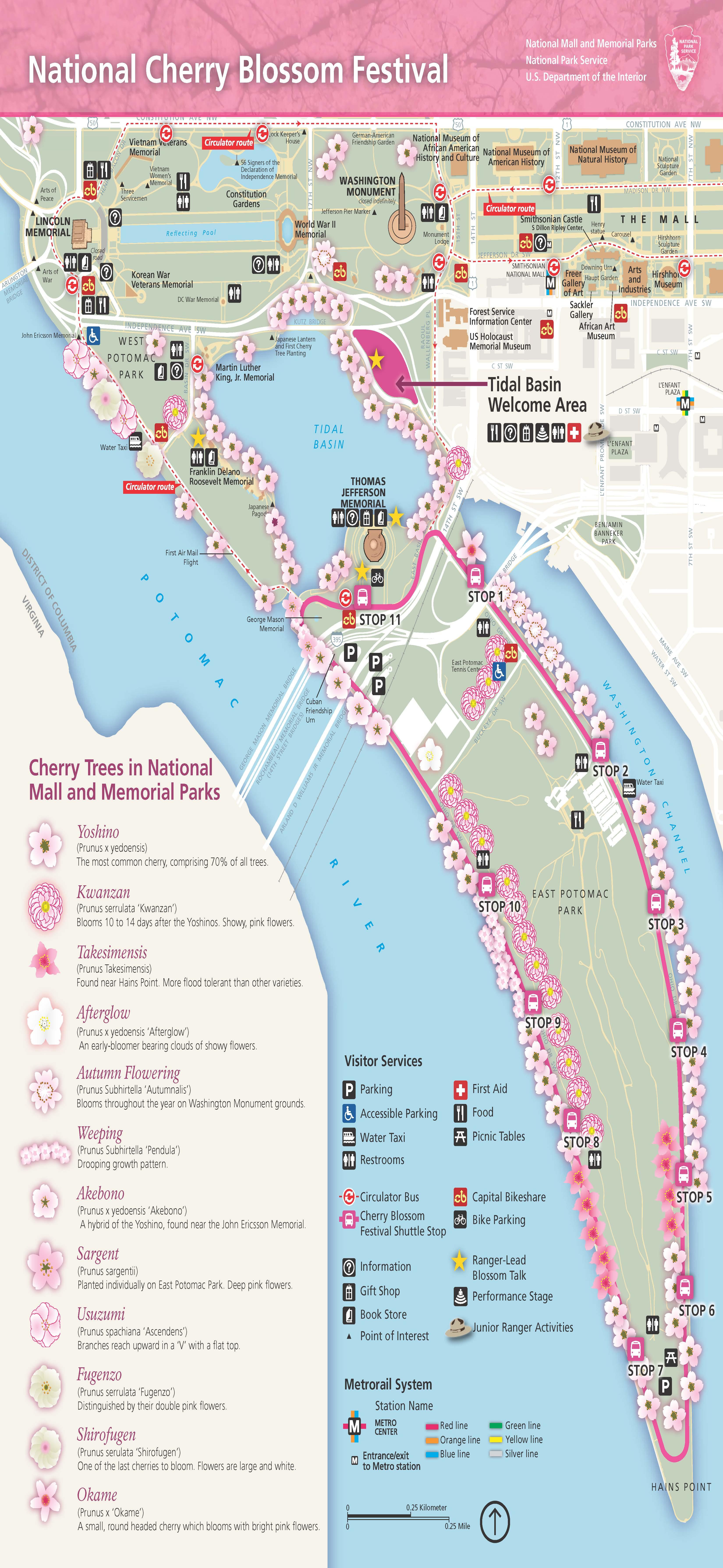 Maps - Cherry Blossom Festival (U.S. National Park Service)