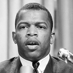 John Lewis at a meeting of the American Society of Newspaper Editors, 1964