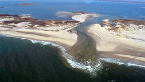 Fire Island breach after Sandy