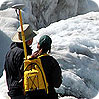 Scientists monitoring glacier retreat at Glacier National Park, Montana
