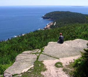 Visitor enjoys Acadia view