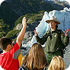 Park Ranger engaging youth at Kenai Fjords