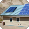 Solar panels on roof in John Day Fossil Beds