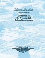 Cover of the Secretary of the Interior's Standards for the Treatment of Historic Properties with Guidelines for the Treatment of Cultural Landscapes