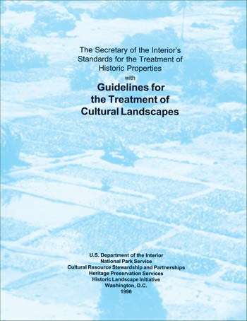 "Report cover for ""Guidelines for the Treatment of Cultural Landscapes"""
