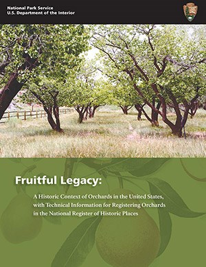 Cover of Fruitful Legacy publication with image of historic orchard.