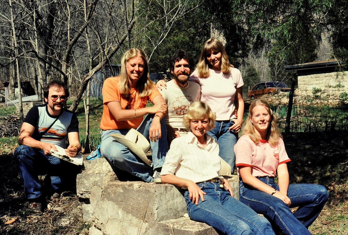 Robert Melnick and others at Buffalo River, 1980-1982
