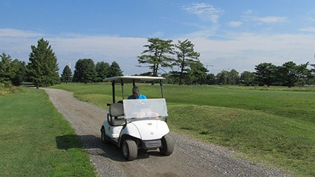 University of Pennsylvania students use golf carts to conduct research at East Potomac Park