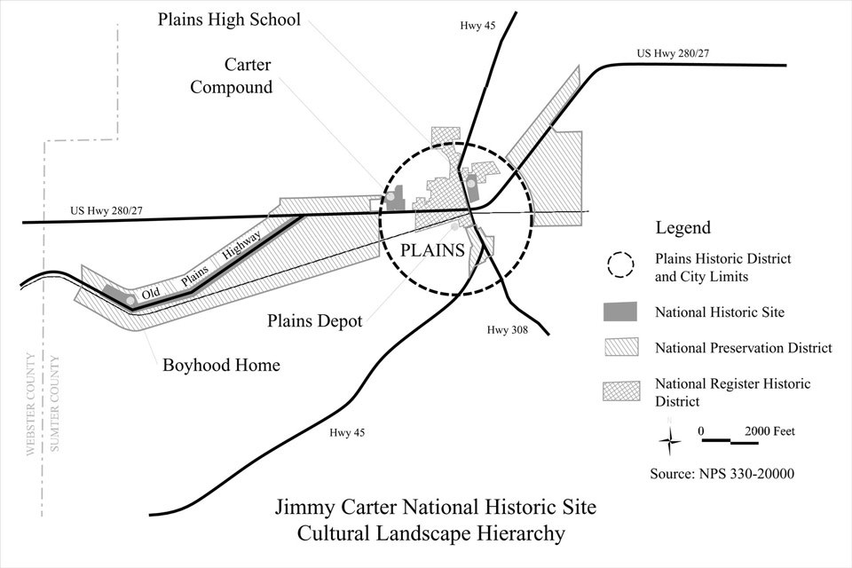 Cultural Landscape Hierarchy for Jimmy Carter National Historic Site