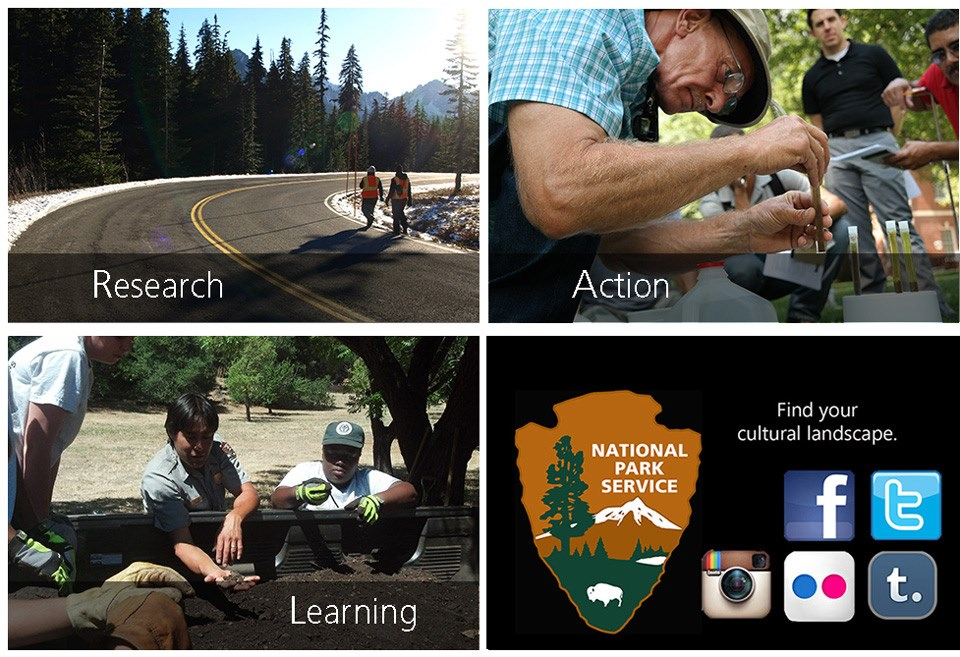 Four image tiles show ways that the program relates to the service and the public.