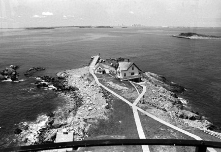 Little Brewster Island from the top of Boston Light