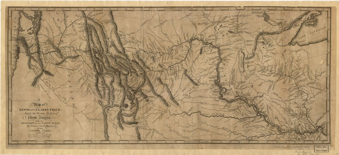 Map Of America Lewis And Clark.William Clark A Master Cartographer U S National Park Service