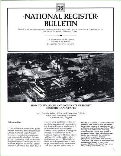 Coer of National Register Bulletin 18, with image and text.