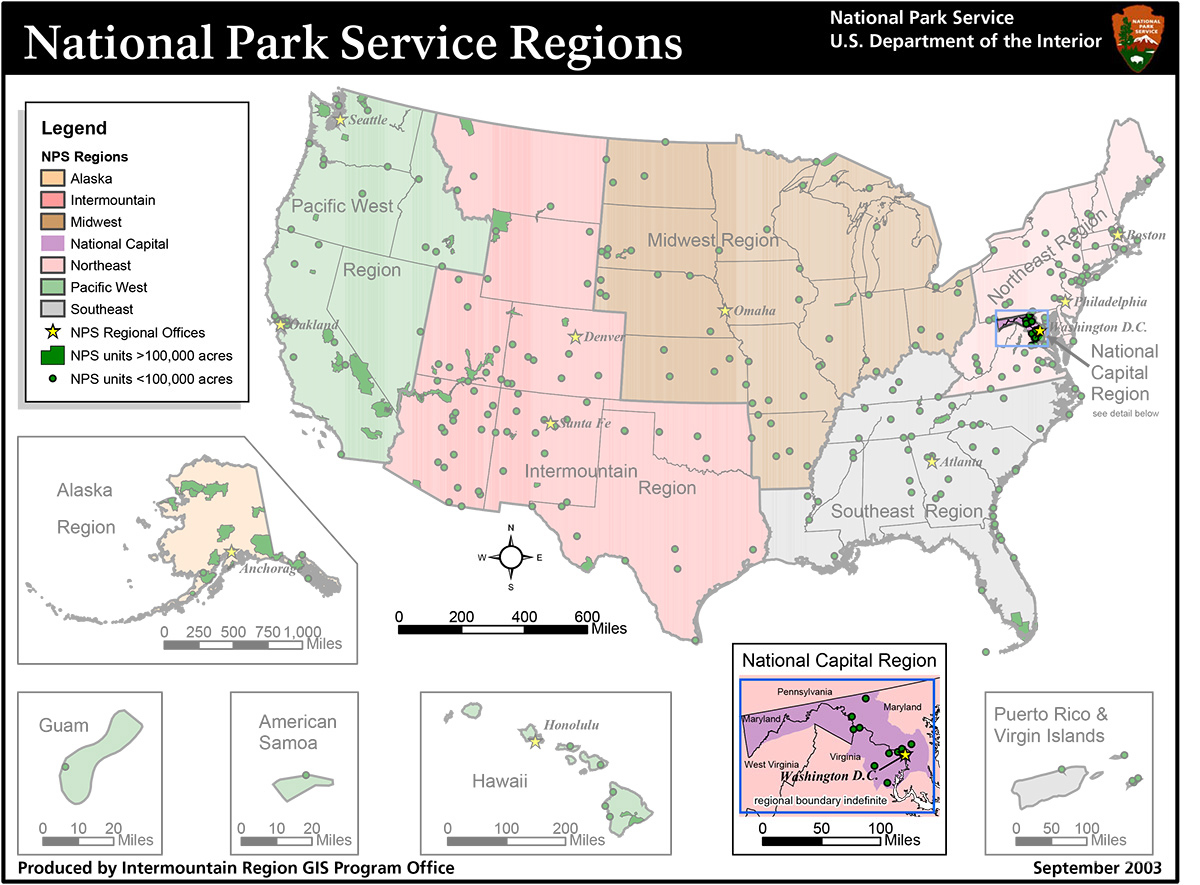 Cultural Landscapes Of The National Capital Region Cultural - Us map with capitals and regions