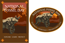 "National Fossil Day ""titanothere"" logo"