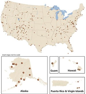 Fossil Parks List Fossils And Paleontology US National Park - Map of all the us national parks