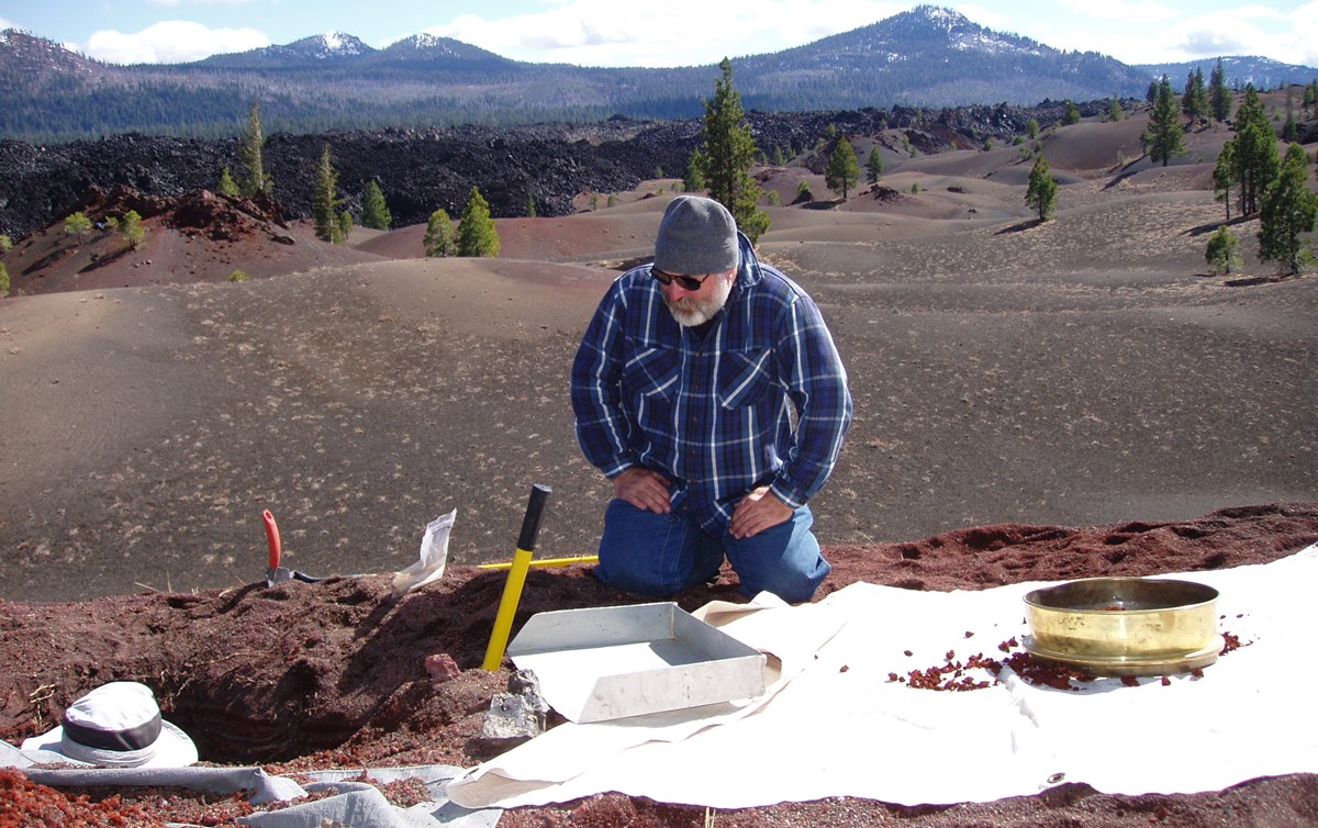 scientist examining soil