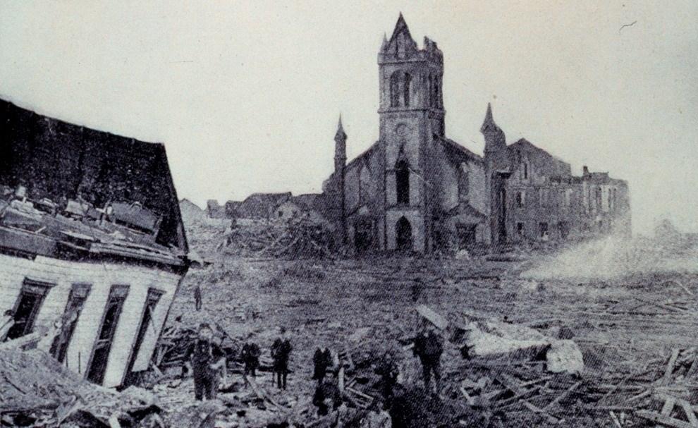 Città distrutta di Galveston, Texas, 1900