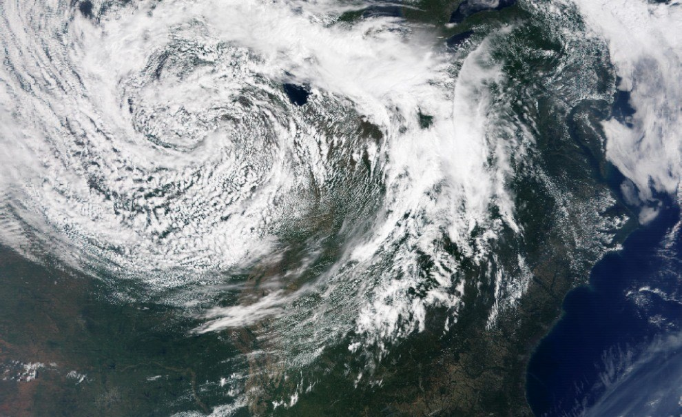 satellite image of storm system