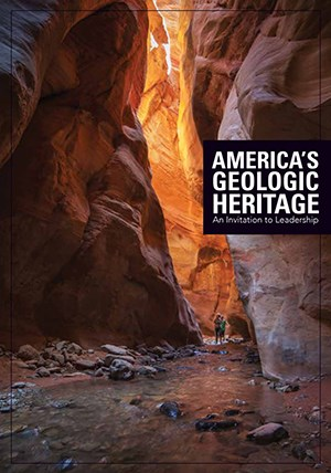 americas geologic heritage book with image of narrow canyon