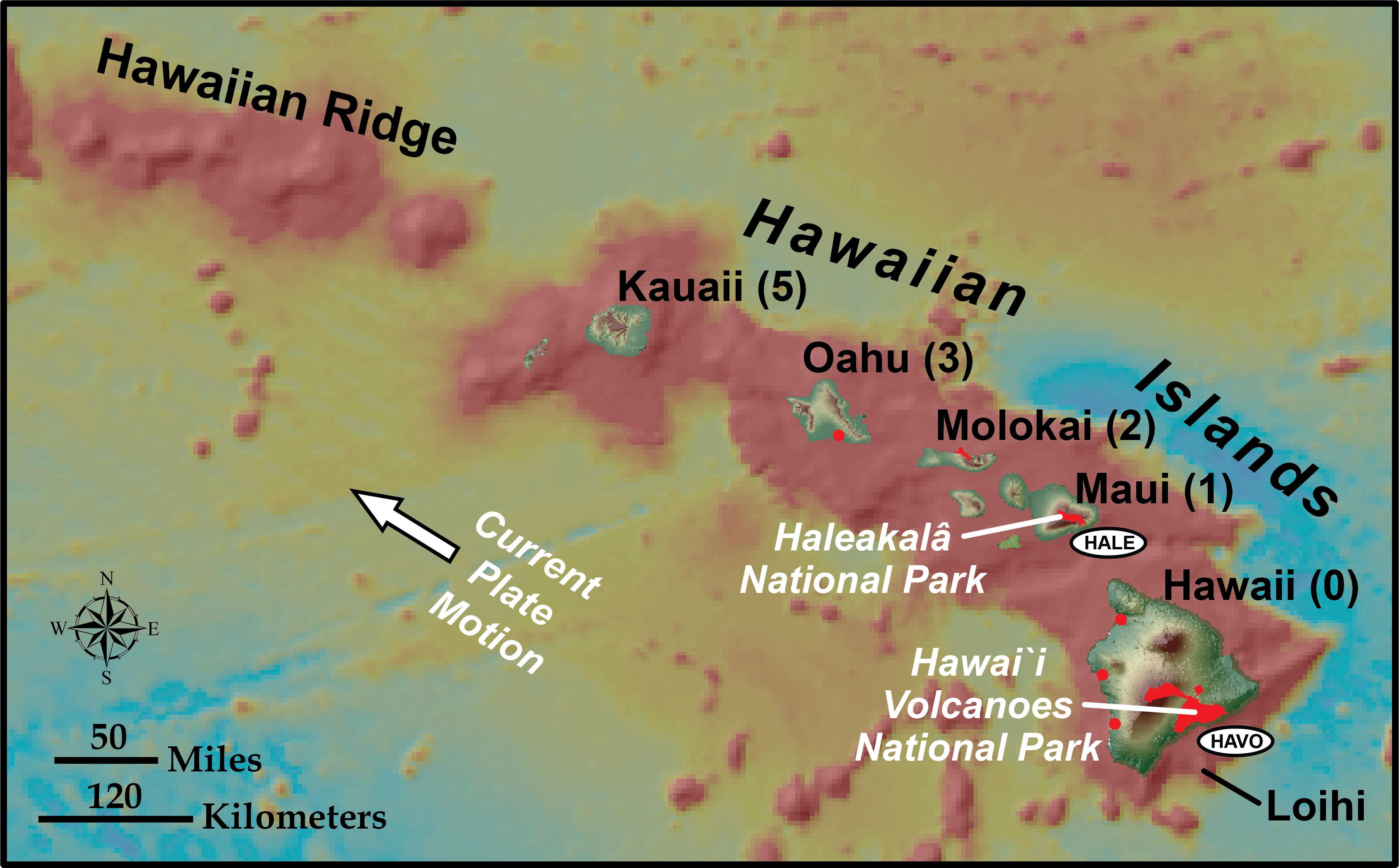 Oceanic Hotspots Geology U S National Park Service