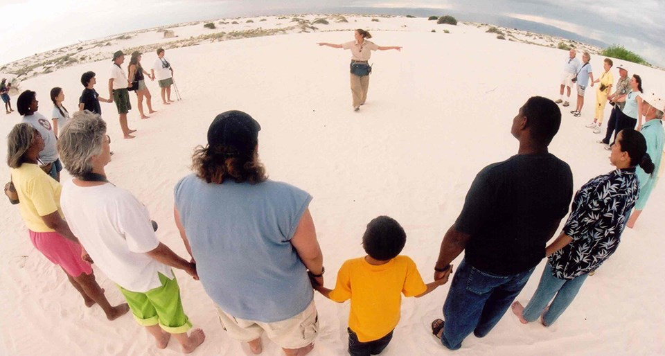 group activity at White Sands
