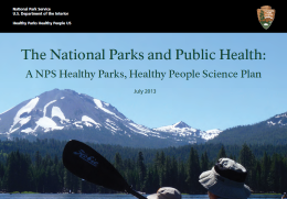 Healthy Parks Healthy People Science Plan