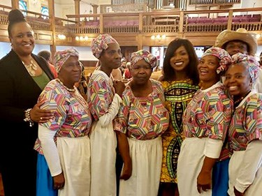 Geechee Gullah Ring Shouters at Watch Night event at Morris Brown AME Church in Charleston, SC, 2018
