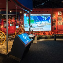 Exhibit with touchscreen
