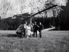 This helicopter was used to search cliffs for a lost hiker at Yosemite National Park.