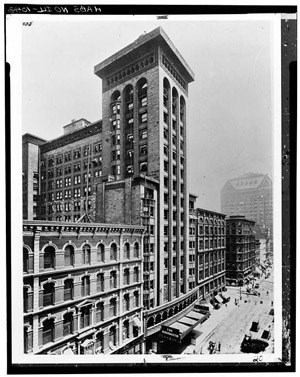 Shiller Theater Building, Chicago, Illinois, c. 1900