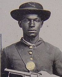 Photo of African American soldier