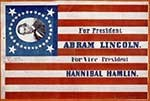 Photo of Abraham Lincoln Ticket Flag