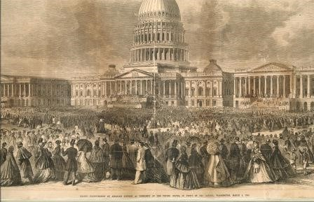 Engraving of Capitol during 2nd Inauguration