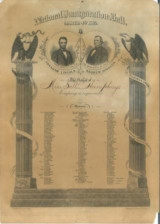 2nd Inaugural Ball Invitation