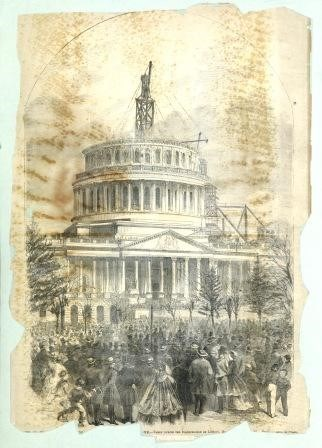 Newspaper Drawing of Capitol