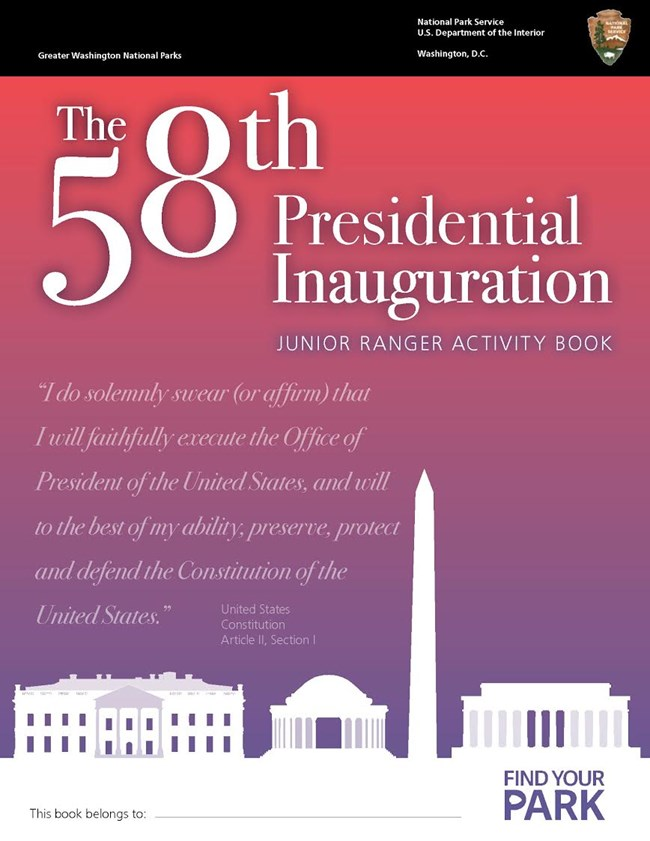 Link to the Inauguration Junior Ranger booklet