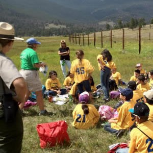 Students from Monte Verde Cloud Forest, Costa Rica, learn how to conduct environemtal surveys at Rocky Mountain NP.