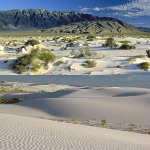Cuatrocienegas National Park (top) and White Sands National Park (bottom) show the similarities between both parks.