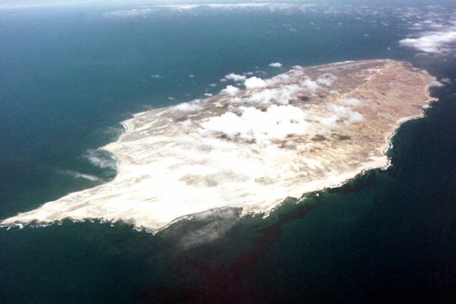Aerial view of island.