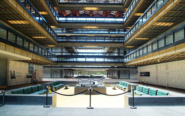 interior view of lobby at Bell Labs