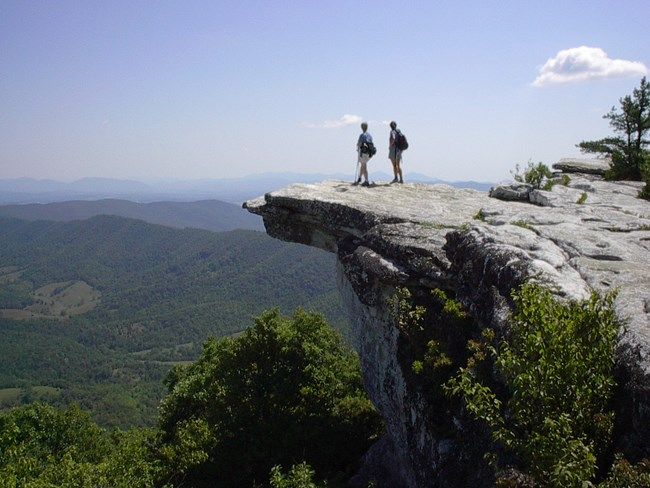 Hikers on McKaffee Knob