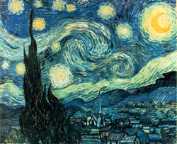 One of tte world's most famous paintings—Vincent Van Gogh's Starry Night
