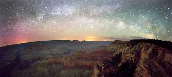 View of night sky, Grand Canyon