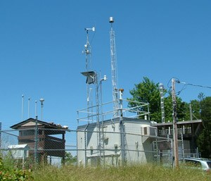 Air quality monitoring station at Great Smoky Mountains NP in North Carolina & Tennessee.