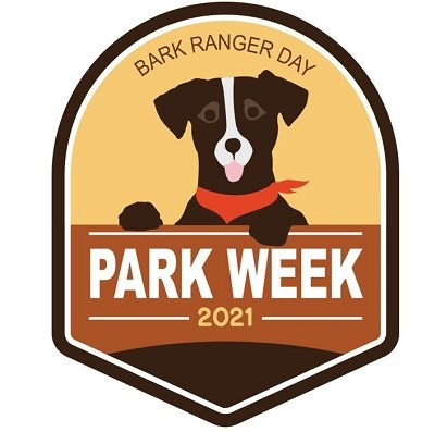 National Park Week 2021 BARK Ranger Day logo