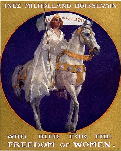 Poster of Inez Milholland on a horse