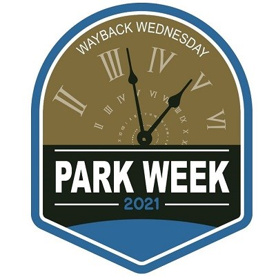 National Park Week Wayback Wednesday logo